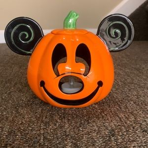 Disney parks Halloween Mickey pumpkin fake jack-o-lantern  candle holder